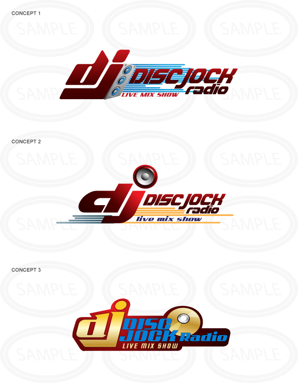 Web Logo Design Sample - Disc Jock Radio